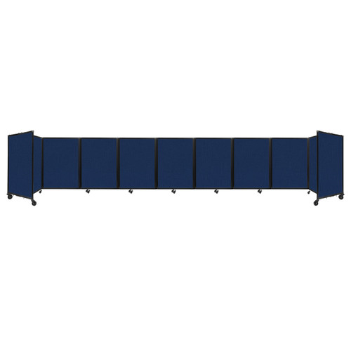 Room Divider 360 Folding Portable Partition 25' x 4' Navy Blue Fabric