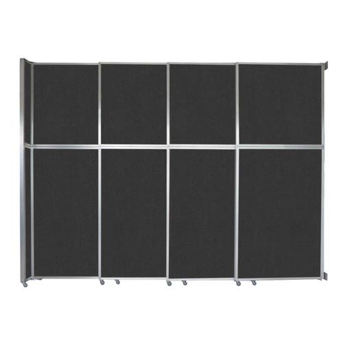 "Operable Wall Sliding Room Divider 12'8"" x 10'3/4"" Black Fabric"
