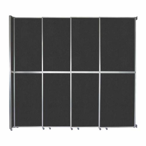 "Operable Wall Sliding Room Divider 12'8"" x 12'3"" Black Fabric"