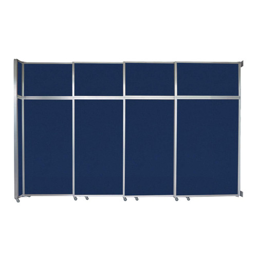"""Operable Wall Sliding Room Divider 12'8"""" x 8'5-1/4"""" Navy Blue Fabric"""