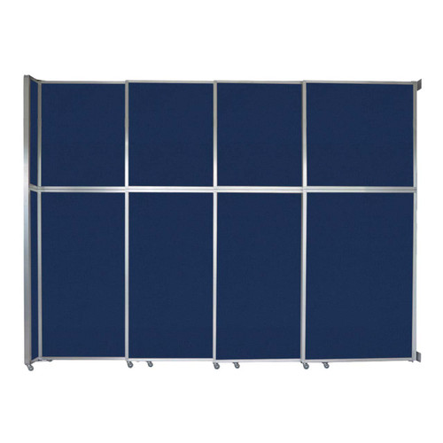 """Operable Wall Sliding Room Divider 12'8"""" x 10'3/4"""" Navy Blue Fabric"""