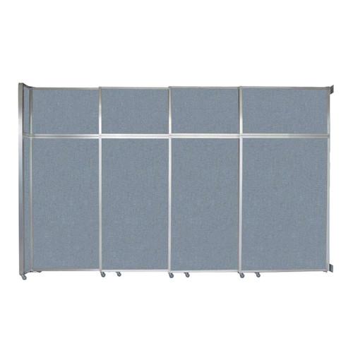 "Operable Wall Sliding Room Divider 12'8"" x 8'5-1/4"" Powder Blue Fabric"