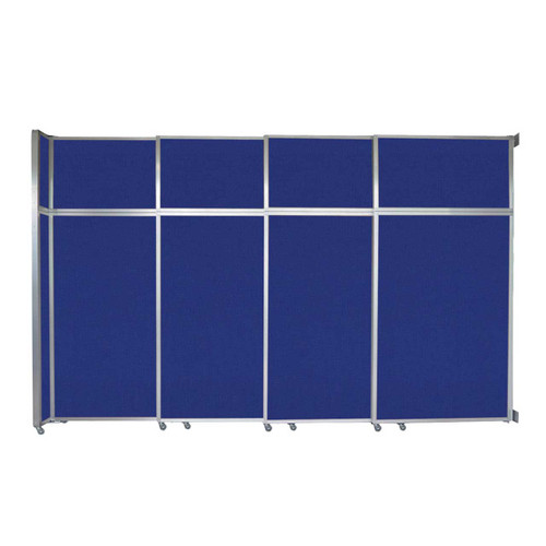"""Operable Wall Sliding Room Divider 12'8"""" x 8'5-1/4"""" Royal Blue Fabric"""