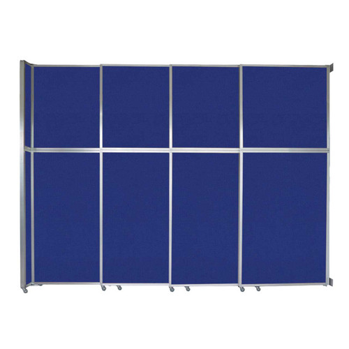 "Operable Wall Sliding Room Divider 12'8"" x 10'3/4"" Royal Blue Fabric"