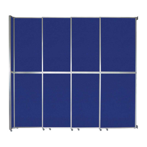 "Operable Wall Sliding Room Divider 12'8"" x 12'3"" Royal Blue Fabric"