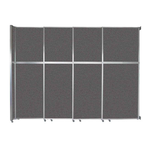 "Operable Wall Sliding Room Divider 12'8"" x 10'3/4"" Charcoal Gray Fabric"