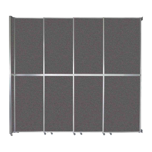 """Operable Wall Sliding Room Divider 12'8"""" x 12'3"""" Charcoal Gray Fabric"""