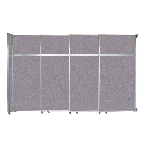 """Operable Wall Sliding Room Divider 12'8"""" x 8'5-1/4"""" Cloud Gray Fabric"""