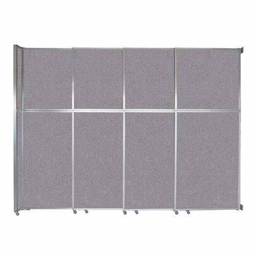 "Operable Wall Sliding Room Divider 12'8"" x 10'3/4"" Cloud Gray Fabric"