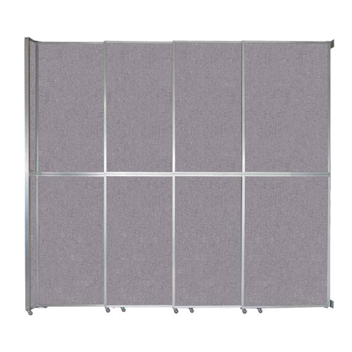 """Operable Wall Sliding Room Divider 12'8"""" x 12'3"""" Cloud Gray Fabric"""