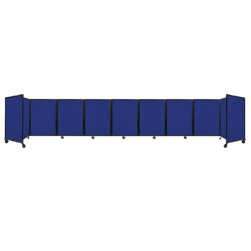 Room Divider 360 Folding Portable Partition 25' x 4' Royal Blue Fabric