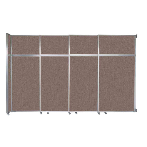 """Operable Wall Sliding Room Divider 12'8"""" x 8'5-1/4"""" Latte Fabric"""