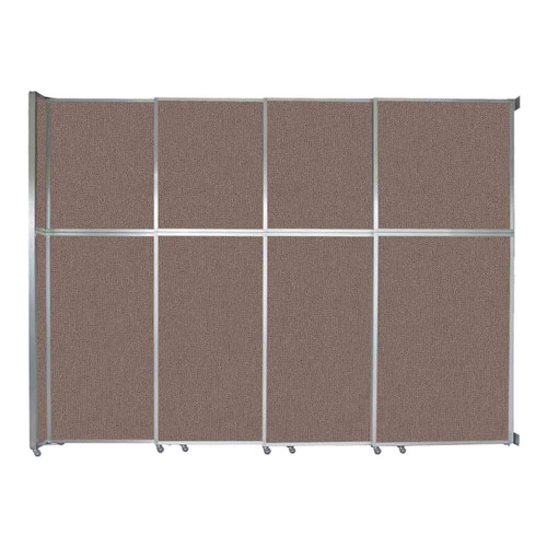 """Operable Wall Sliding Room Divider 12'8"""" x 10'3/4"""" Latte Fabric"""