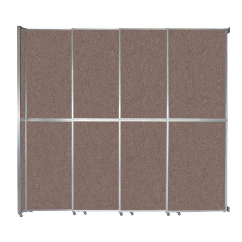 "Operable Wall Sliding Room Divider 12'8"" x 12'3"" Latte Fabric"