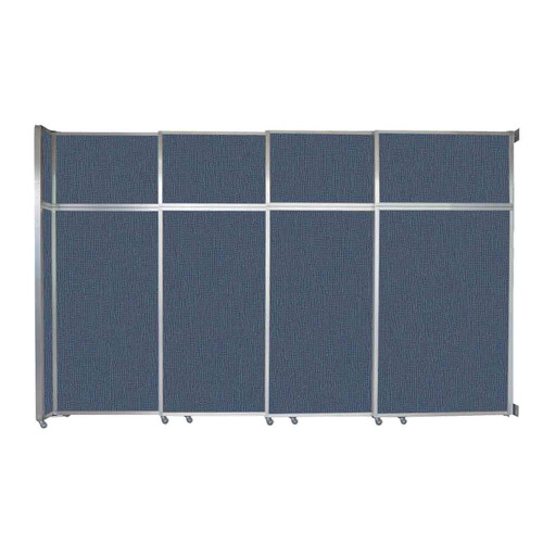 "Operable Wall Sliding Room Divider 12'8"" x 8'5-1/4"" Ocean Fabric"