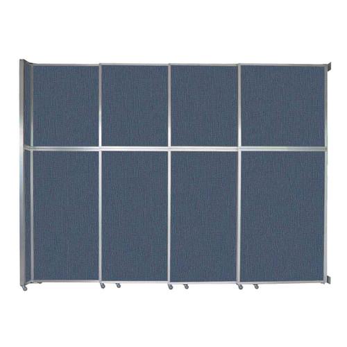 "Operable Wall Sliding Room Divider 12'8"" x 10'3/4"" Ocean Fabric"