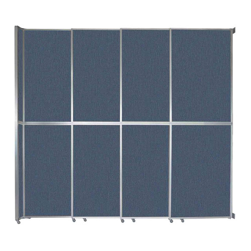 "Operable Wall Sliding Room Divider 12'8"" x 12'3"" Ocean Fabric"