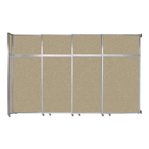 """Operable Wall Sliding Room Divider 12'8"""" x 8'5-1/4"""" Rye Fabric"""