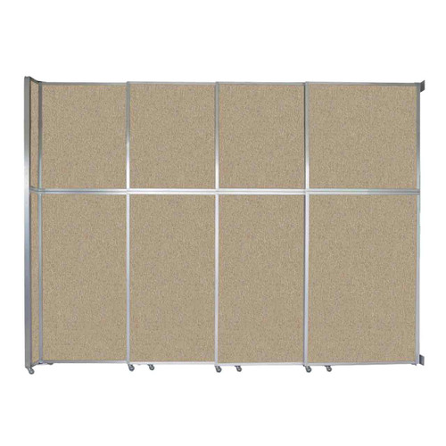 """Operable Wall Sliding Room Divider 12'8"""" x 10'3/4"""" Rye Fabric"""