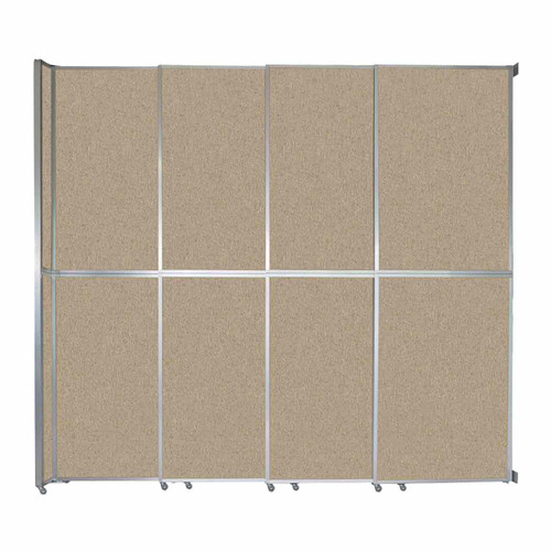 "Operable Wall Sliding Room Divider 12'8"" x 12'3"" Rye Fabric"