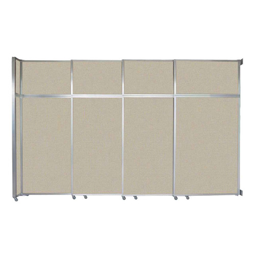 """Operable Wall Sliding Room Divider 12'8"""" x 8'5-1/4"""" Sand Fabric"""