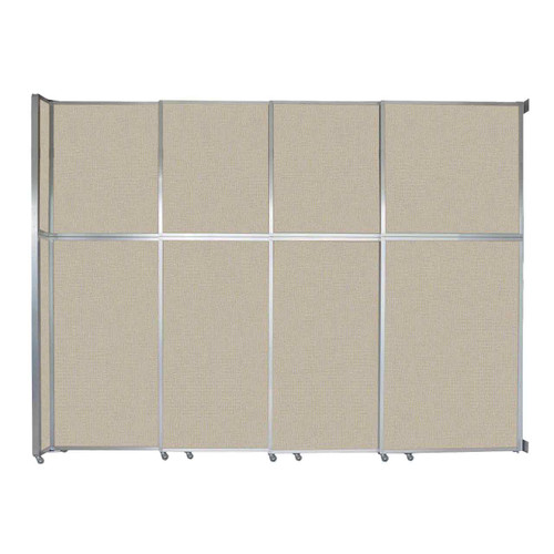 """Operable Wall Sliding Room Divider 12'8"""" x 10'3/4"""" Sand Fabric"""