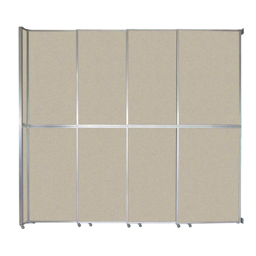 "Operable Wall Sliding Room Divider 12'8"" x 12'3"" Sand Fabric"
