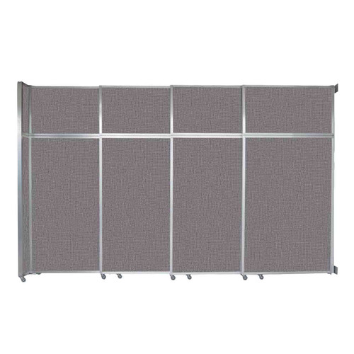 """Operable Wall Sliding Room Divider 12'8"""" x 8'5-1/4"""" Slate Fabric"""