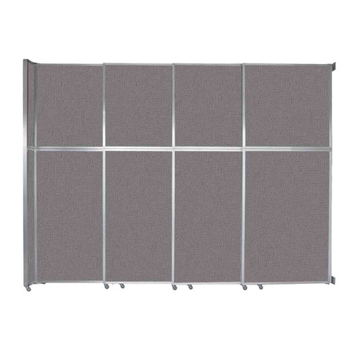 """Operable Wall Sliding Room Divider 12'8"""" x 10'3/4"""" Slate Fabric"""