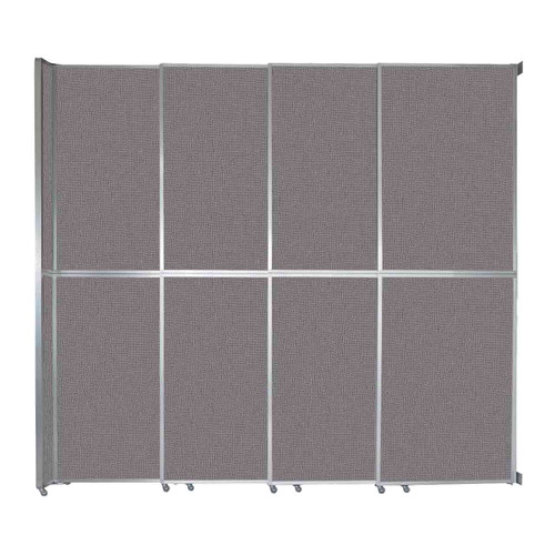 "Operable Wall Sliding Room Divider 12'8"" x 12'3"" Slate Fabric"