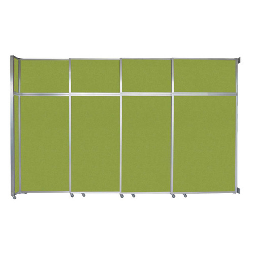 """Operable Wall Sliding Room Divider 12'8"""" x 8'5-1/4"""" Lime Green Fabric"""