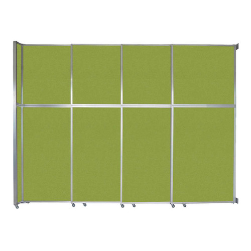 """Operable Wall Sliding Room Divider 12'8"""" x 10'3/4"""" Lime Green Fabric"""