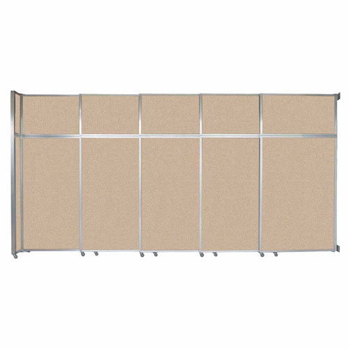 """Operable Wall Sliding Room Divider 15'7"""" x 8'5-1/4"""" Beige Fabric"""
