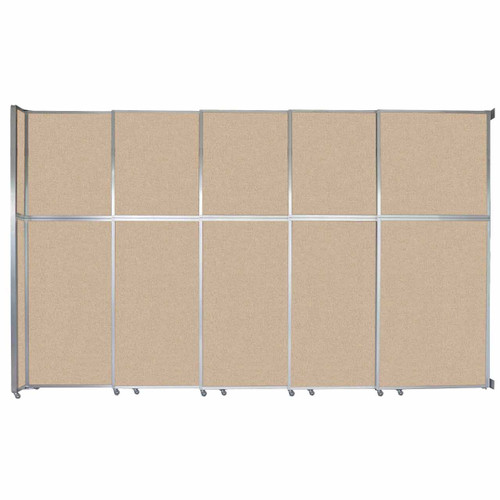 """Operable Wall Sliding Room Divider 15'7"""" x 10'3/4"""" Beige Fabric"""