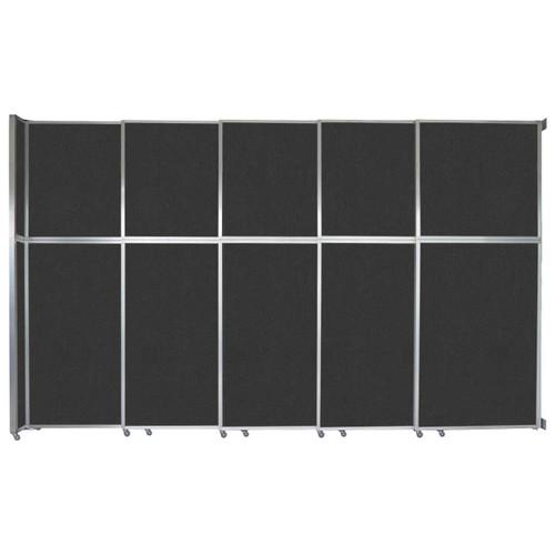 "Operable Wall Sliding Room Divider 15'7"" x 10'3/4"" Black Fabric"