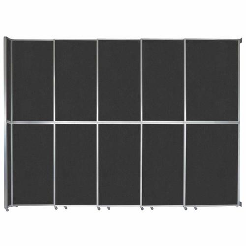 "Operable Wall Sliding Room Divider 15'7"" x 12'3"" Black Fabric"