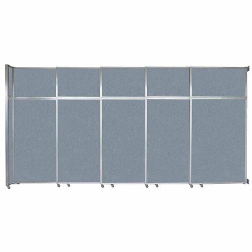 "Operable Wall Sliding Room Divider 15'7"" x 8'5-1/4"" Powder Blue Fabric"