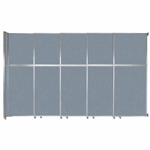 "Operable Wall Sliding Room Divider 15'7"" x 10'3/4"" Powder Blue Fabric"