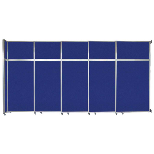 "Operable Wall Sliding Room Divider 15'7"" x 8'5-1/4"" Royal Blue Fabric"