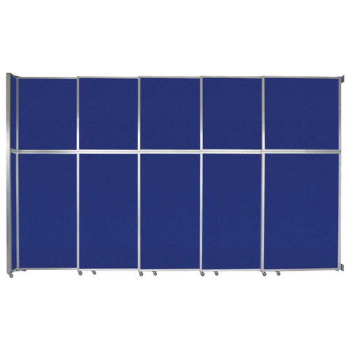 "Operable Wall Sliding Room Divider 15'7"" x 10'3/4"" Royal Blue Fabric"