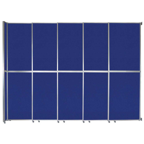 """Operable Wall Sliding Room Divider 15'7"""" x 12'3"""" Royal Blue Fabric"""