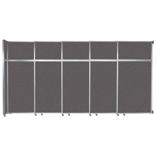 """Operable Wall Sliding Room Divider 15'7"""" x 8'5-1/4"""" Charcoal Gray Fabric"""