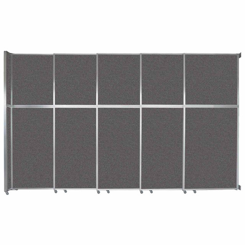 """Operable Wall Sliding Room Divider 15'7"""" x 10'3/4"""" Charcoal Gray Fabric"""