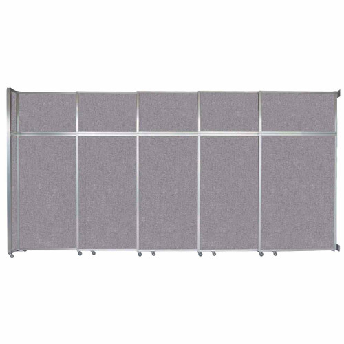 """Operable Wall Sliding Room Divider 15'7"""" x 8'5-1/4"""" Cloud Gray Fabric"""