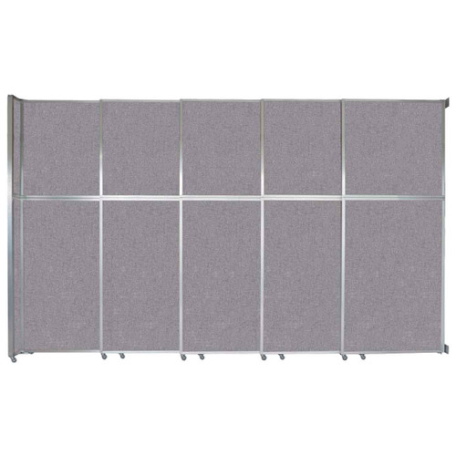 """Operable Wall Sliding Room Divider 15'7"""" x 10'3/4"""" Cloud Gray Fabric"""