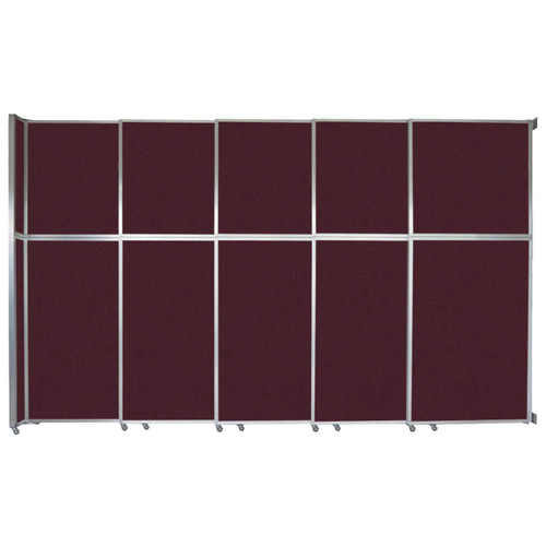 """Operable Wall Sliding Room Divider 15'7"""" x 10'3/4"""" Cranberry Fabric"""