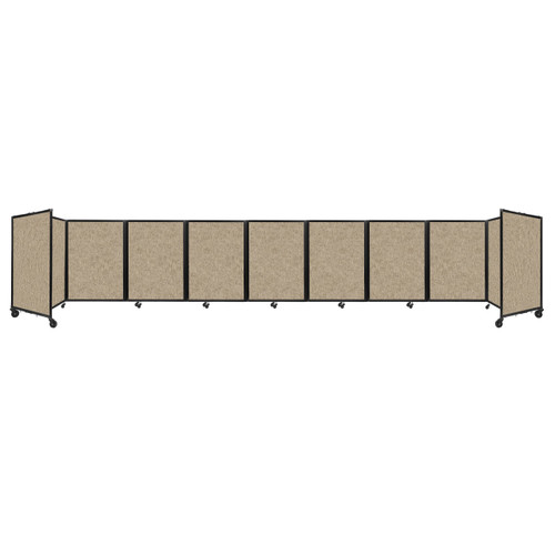 Room Divider 360 Folding Portable Partition 25' x 4' Rye Fabric