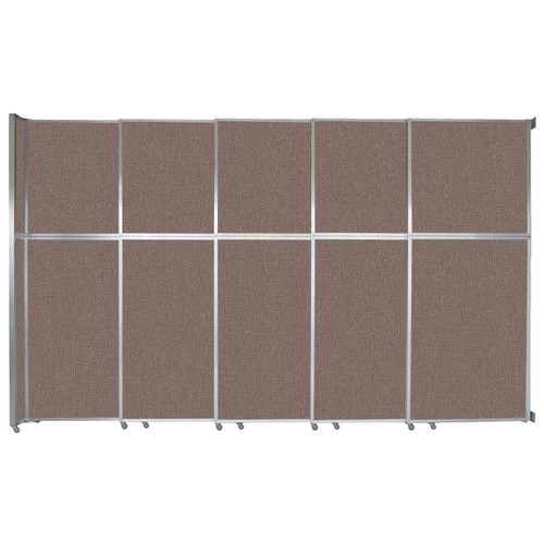 """Operable Wall Sliding Room Divider 15'7"""" x 10'3/4"""" Latte Fabric"""