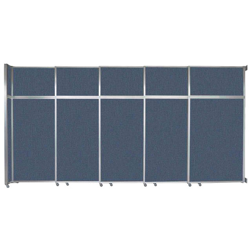 "Operable Wall Sliding Room Divider 15'7"" x 8'5-1/4"" Ocean Fabric"