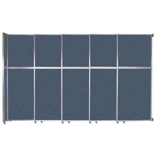 "Operable Wall Sliding Room Divider 15'7"" x 10'3/4"" Ocean Fabric"
